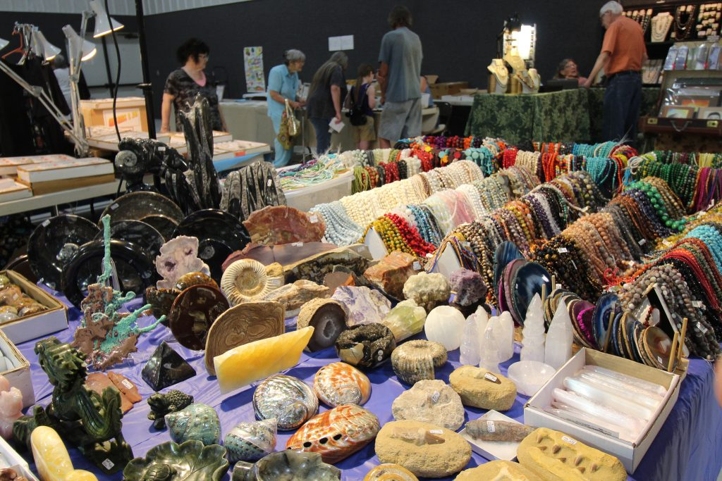 Vendor Table at the 2019 Osage Beach Rock and Mineral Show