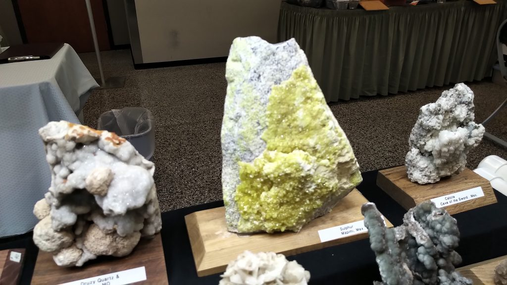 Large Sulfer Sample at the Springfield Rock Show 2019